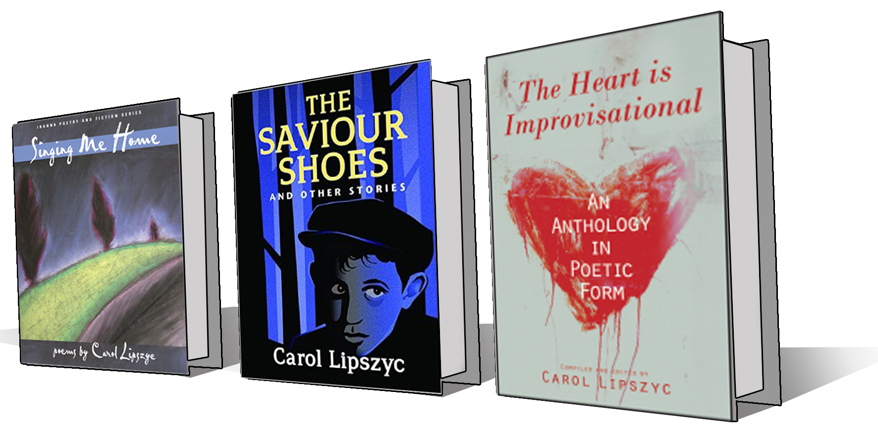 Images of the books written by Carol Lipszyc